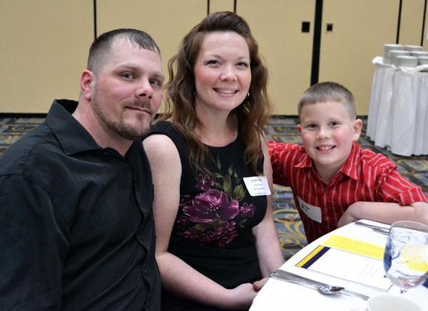 Jennifer Ryan and family at the 2016 UM-Flint Veterans' Celebration Dinner