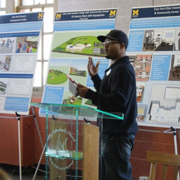 UM-Flint Students Re-Imagine Flint's Civic Park Neighborhood