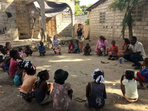 UM-Flint social work students in Haiti.