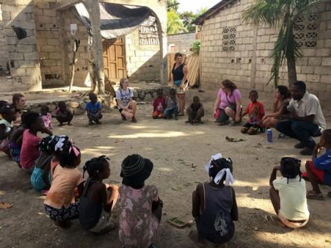 UM-Flint social work students in Haiti.