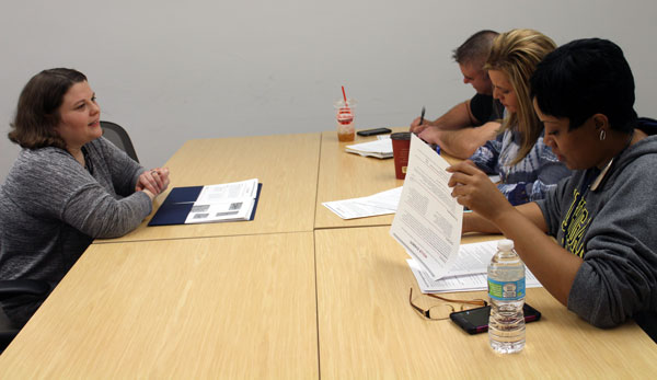 Education students participated in a variety of mock interview settings.