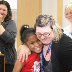 Graduate students in UM-Flint's literacy arts program recently celebrated the accomplishments of the children they have been working with in the school's Reading Center.