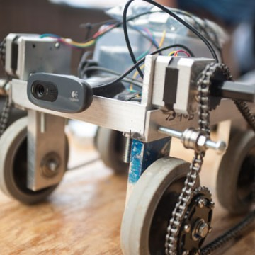 Inspection and Rescue Robot designed by UM-Flint engineering students.