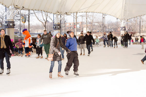 Hundreds came out to the grand reopening of the ice rink.