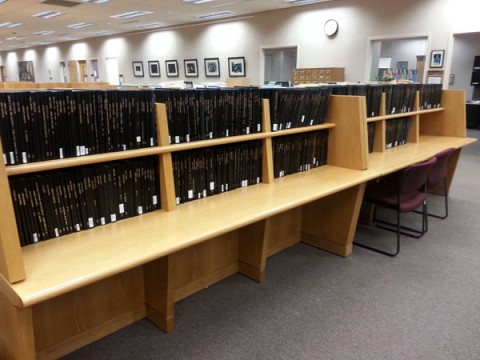 Hard copies of theses and dissertations in UM-Flint's Thompson Library.