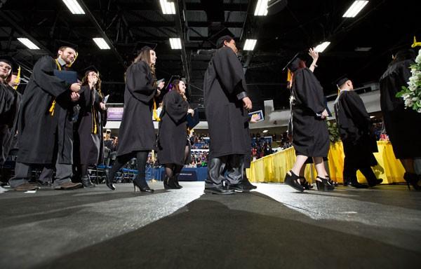 UM-Flint graduates at commencement ceremony.