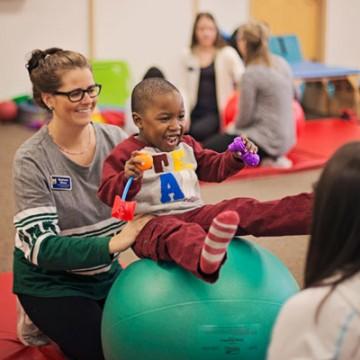 UM-Flint Physical Therapy Helps ECDC Children Thrive