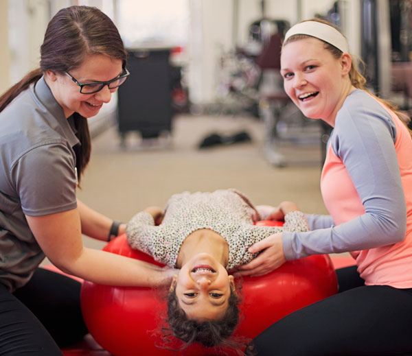 UM-Flint physical therapy students make learning feel like play.