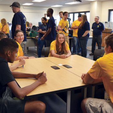Participants in UM-Flint's 2015 Engineering Camp