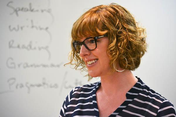 Emily Feuerherm of UM-Flint English, coordinator of the UM-Flint TESOL certificate