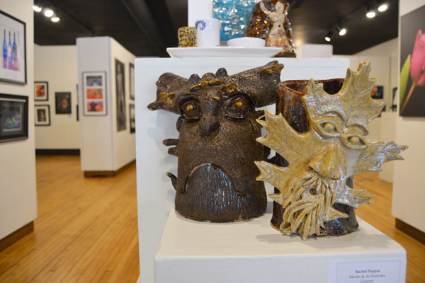 Pieces at the 2016 UM-Flint Art Student Exhibition