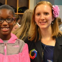 Samantha Grathoff with one of her Curiosity Academy students.
