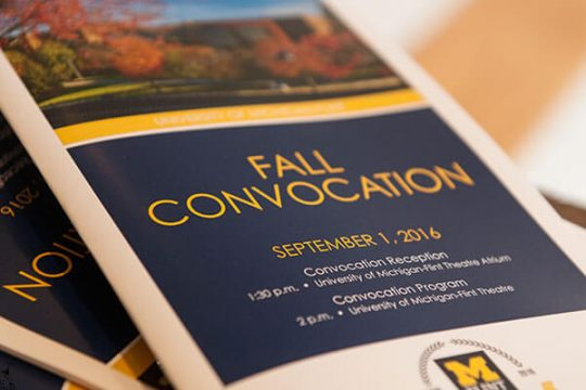 Fall Convocation Program