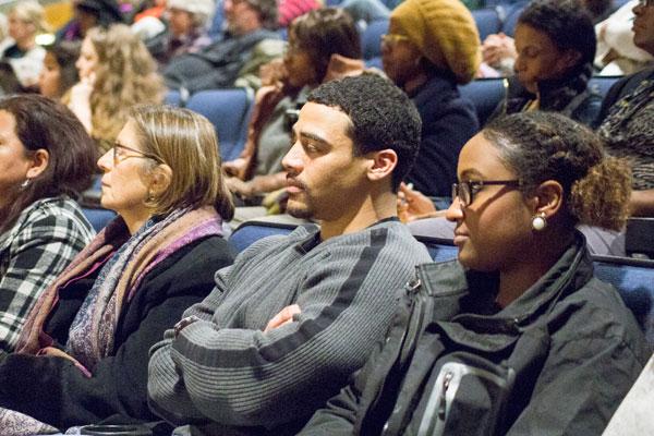 Students in UM-Flint's Kiva auditorium.