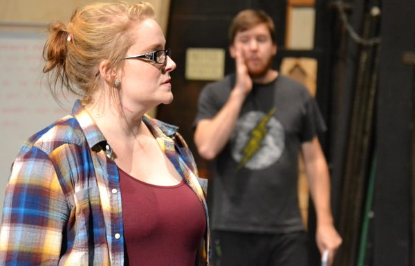 """Shelby Coleman of UM-Flint Theatre during rehearsal for """"Next to Normal"""""""