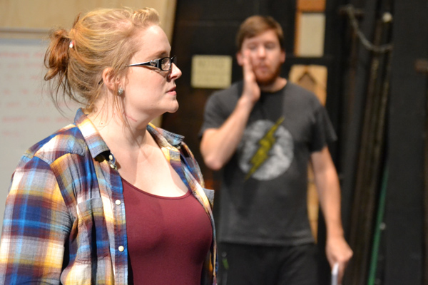 "Shelby Coleman of UM-Flint Theatre during rehearsal for ""Next to Normal"""