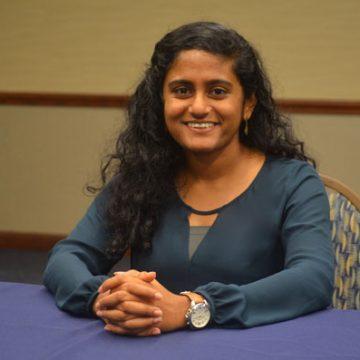 UM-Flint Student Government president Menusha Arumugam