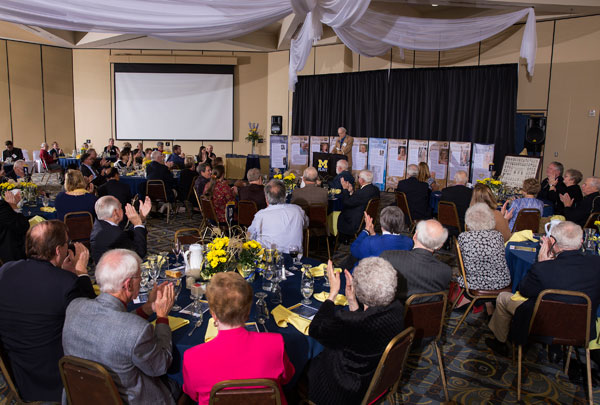 Nearly 100 people attended the inaugural UM-Flint Victors Reunion.