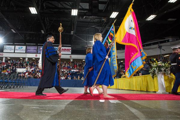 UM-Flint commencement ceremony