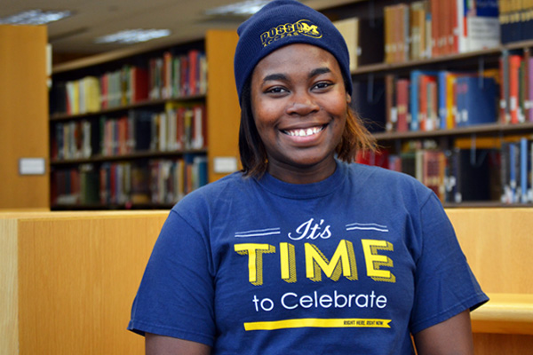 Elexis Nelson will graduate with a UM-Flint English degree in linguistics and a TESOL certificate.