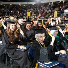 UM-Flint graduates turn their tassels at the 2016 December Commencement