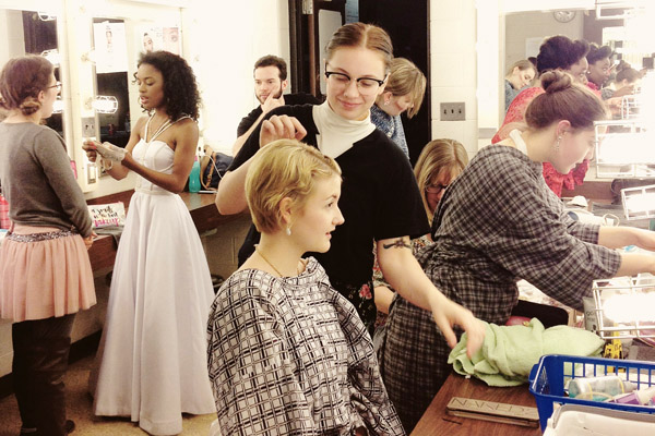 Make-up, costume, and hair for the UM-Flint Theatre production of BIG LOVE.
