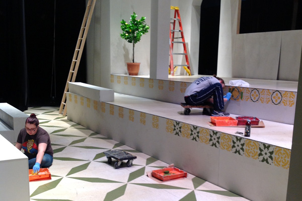 Set and stage construction for UM-Flint Theatre's BIG LOVE.