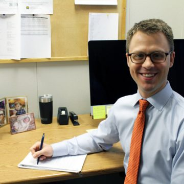 Joel Maidens, the UM-Flint Education Department's new elementary education academic advisor.