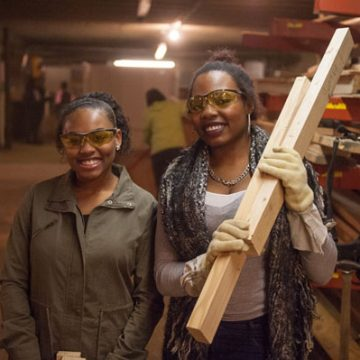 UM-Flint students volunteer at Habitat for Humanity on MLK Day 2017