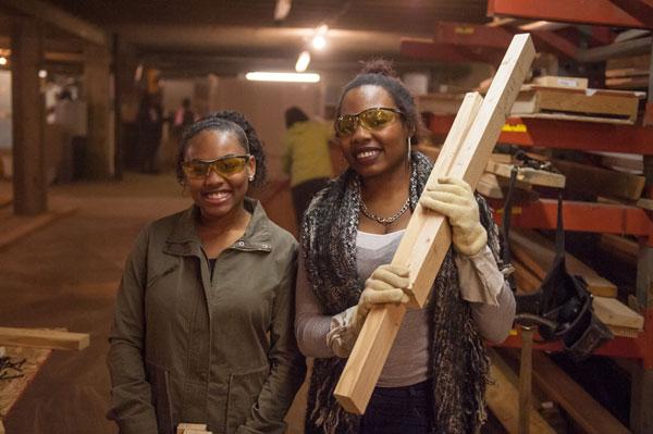 UM-Flint students volunteer at Habitat for Humanity on MLK Day 2017