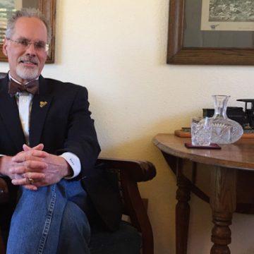 UM-Flint alumnus Donald Tallman in his office at the Colorado Railroad Museum.
