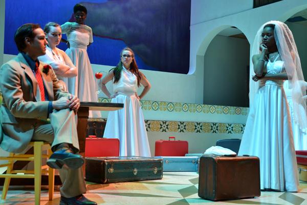 A scene from UM-Flint Theatre's BIG LOVE.