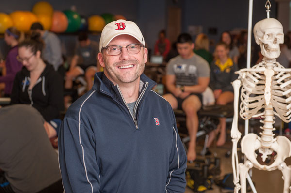 Former UM-Flint professor James Creps is now the senior physical therapist for the Boston Red Sox.