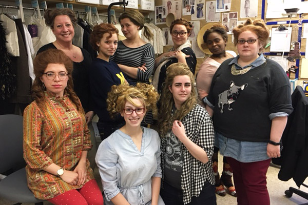 Participants in UM-Flint Theatre's recent wig workshop.