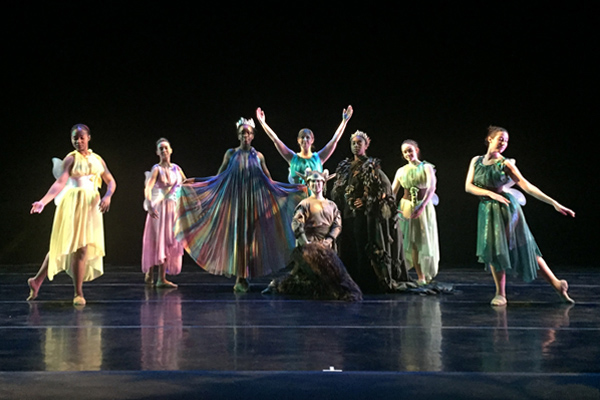 A Midsummer Night's Dream Choreography by Adesola Akinleye costumes designed by Adam M Dill