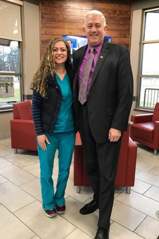 Jena with Michigan State Senator Ken Horn