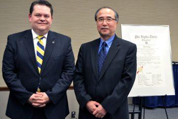 '93 alumnus Judge Stephen Thibodeau with UM-Flint History's Roy Hanashiro, PhD