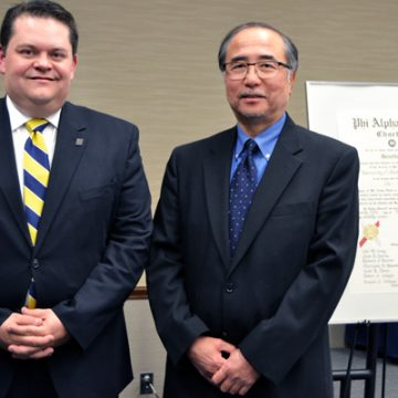 '93 alumnus Judge Stephen Thibodeau with UM-Flint History's Roy Hanashiro, PhD
