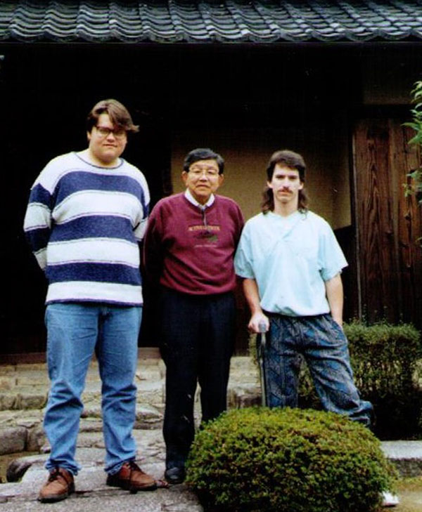 Stephen Thibodeau (far left) on his study abroad trip to Japan
