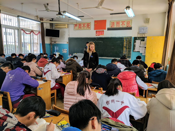 Kathrine Colpaert was able to experience the learning environment in China firsthand.