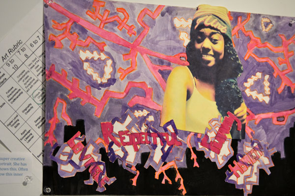 A piece from a class project by one of Leaym-Fernandez's Flint Community Schools students.