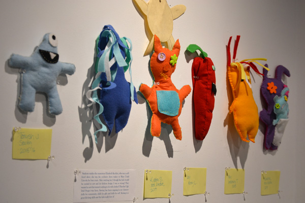 Pieces for the Ugly Doll Project created by Flint Community Schools students