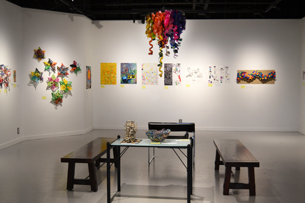 The Flint Community Schools student show in the UM-Flint Art Gallery