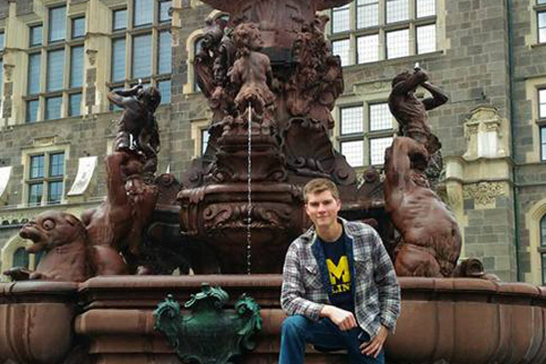 Zachary Hayes of UM-Flint's Department of Geography, Planning & Environment on his study abroad trip to Germany