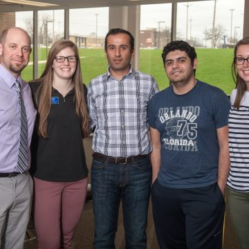 Dr. Bara Alsalaheen (center) and his research team.