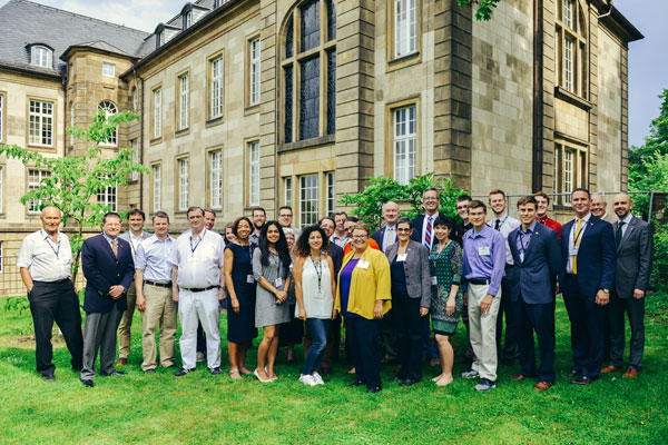 About 60 people, including several UM-Flint students studying or doing internships in Germany, attended the alumni event.