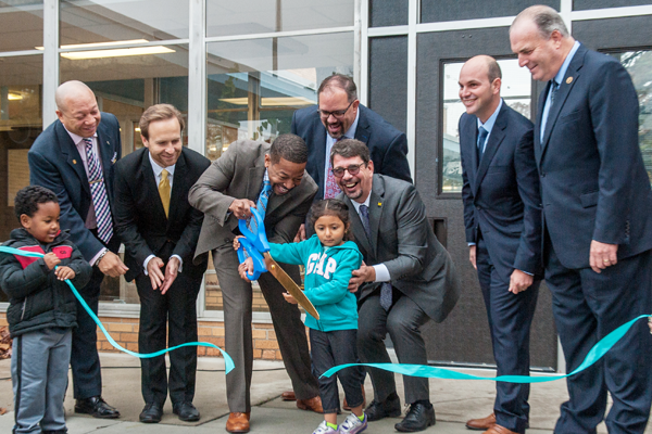 The opening of Cummings Great Expectations, An Early Childhood Center in Flint.