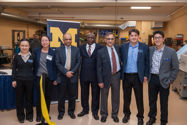 Faculty members of the UM-Flint engineering program at the design studio grand opening