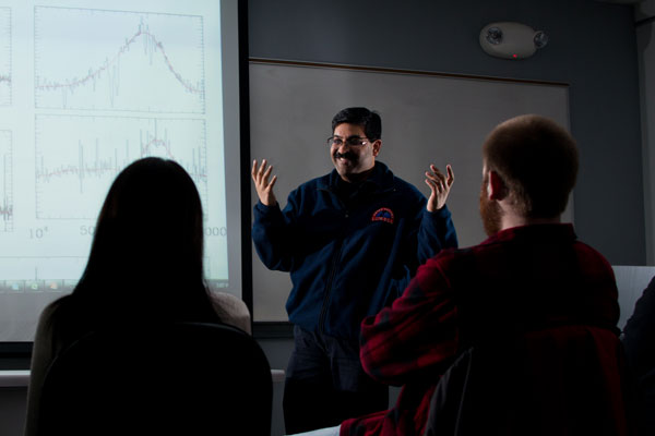 Rajib Ganguly, PhD has worked with the Hubble Space Telescope to study super-massive black holes.