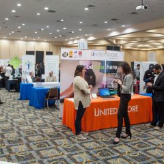 A recent career fair held at UM-Flint's Riverfront Center.